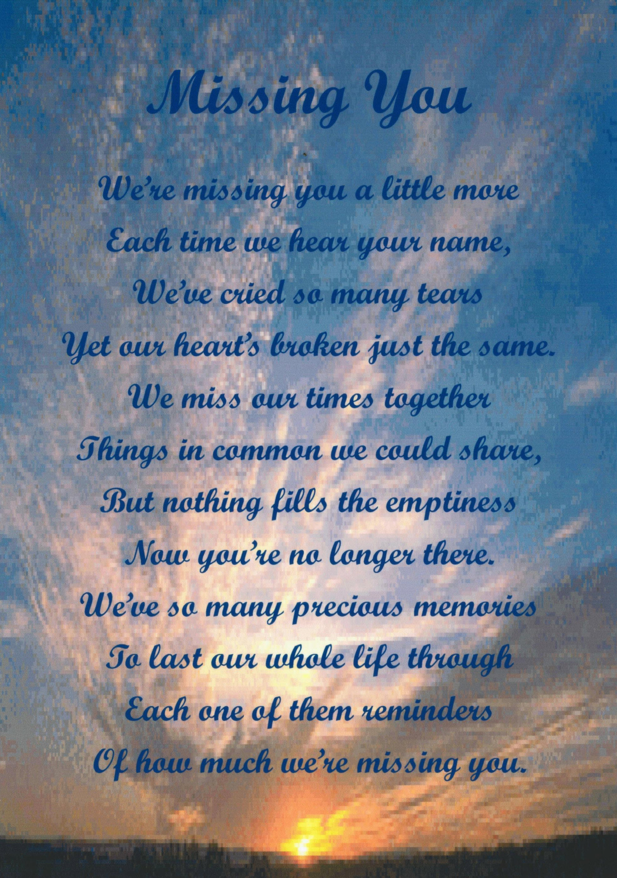 In Heaven Quotes Miss You: Quotes Missing Your Parents. QuotesGram