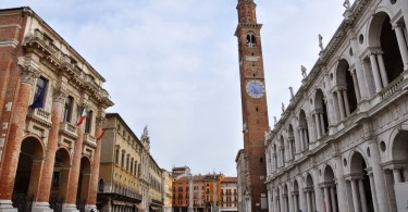 Piazza dei Signori - Vicenza's main square with two buildings designed by Palladio at the front - The Basilica Palladiana to the right and the Capitaniato to the left