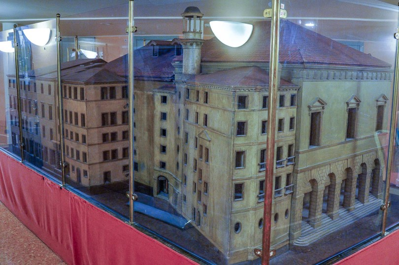 A scaled down model of the theatre - La Fenice Opera House in Venice, Italy - www.rossiwrites.com