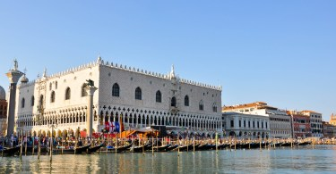Doge's Palace seen from the waterside, Regatta of the Ancient Maritime Republics, Venice, Italy-2