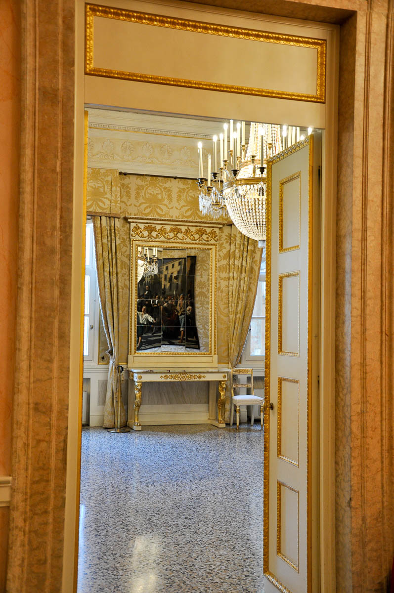 Into a room on the second floor - La Fenice Opera House in Venice, Italy - www.rossiwrites.com
