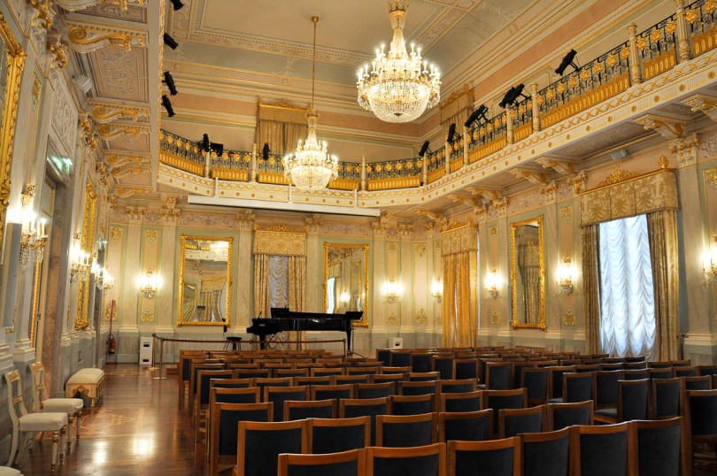 The ballroom - La Fenice Opera House in Venice, Italy - www.rossiwrites.com