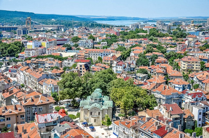 A bird-eye's view of Varna, Bulgaria known as the Pearl of the Black Sea - rossiwrites.com