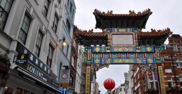 The brand new (fourth) Chinatown gate on Wardour Street, Chinatown, London, England