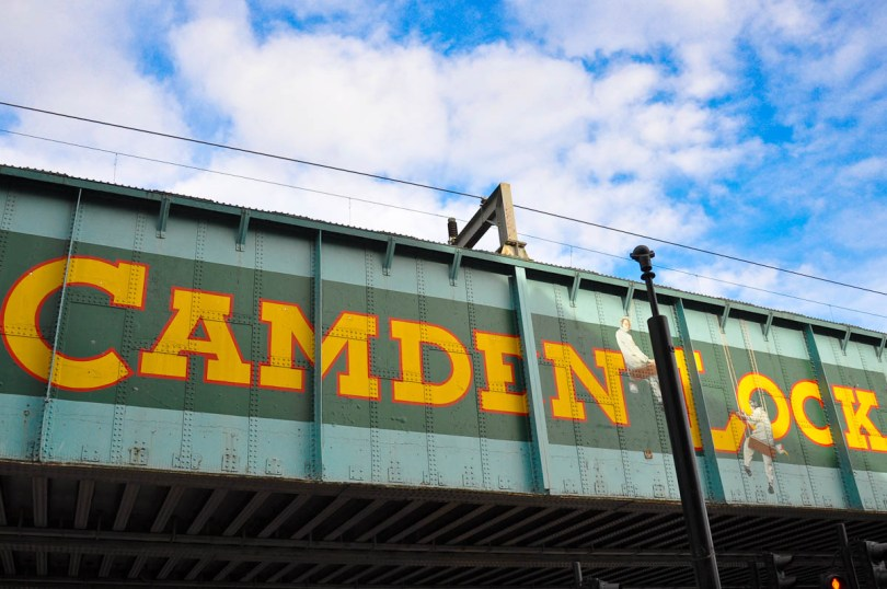 The train flyover, Camden Lock Market, Camden Town, London, England