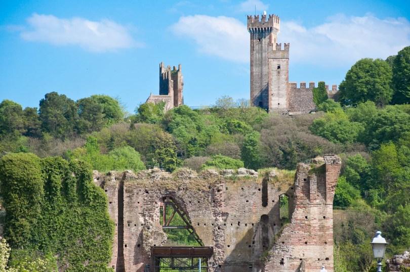 The Scaligeri Castle with the Visconti Bridge - Valeggio sul Mincio, Italy - rossiwrites.com