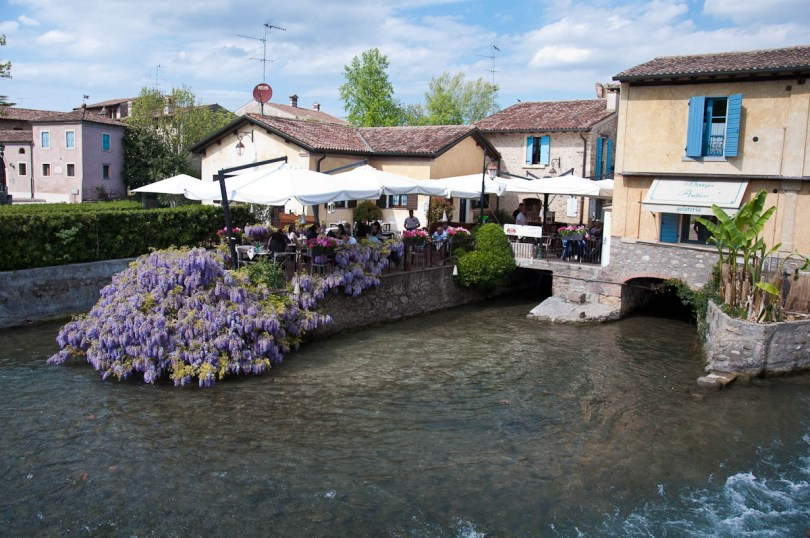 The restaurants at Borghetto sul Mincio, Italy