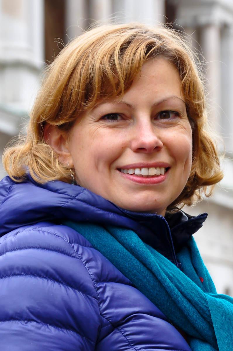 Writer and journalist Vanya Eftimova Bellinger, Piazza dei Signori, Vicenza, Italy