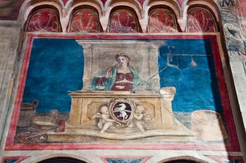 Fresco inside the great hall of Palazzo della Ragione , Padua, Italy - www.rossiwrites.com