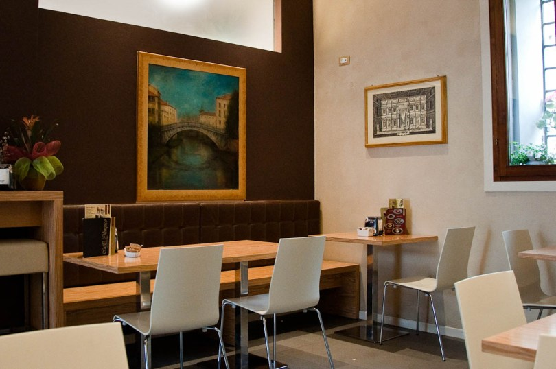 Inside Caffe Olimpico, Vicenza, Italy - www.rossiwrites.com