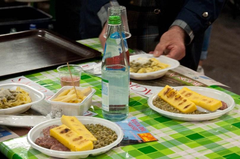 Pea-based dishes, Pea Festival, Sagra dei Bisi, Lumignano, Veneto, Italy - www.rossiwrites.com