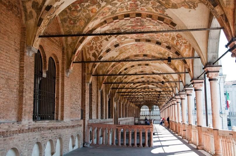 The frescoed loggia, Great hall of Palazzo della Ragione , Padua, Italy - www.rossiwrites.com
