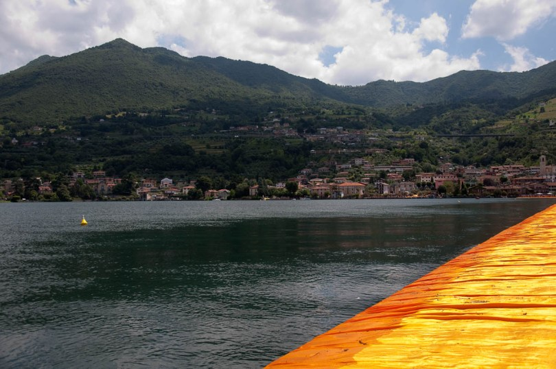 Christo's The Floating Piers, Lake Iseo with the orange walkway, Italy - www.rossiwrites.com