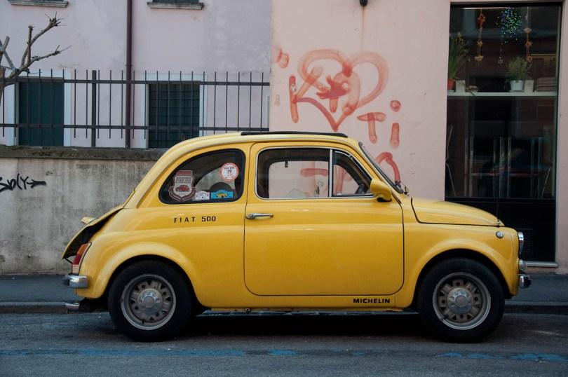 Fiat 500 as seen on the streets of Vicenza, Italy