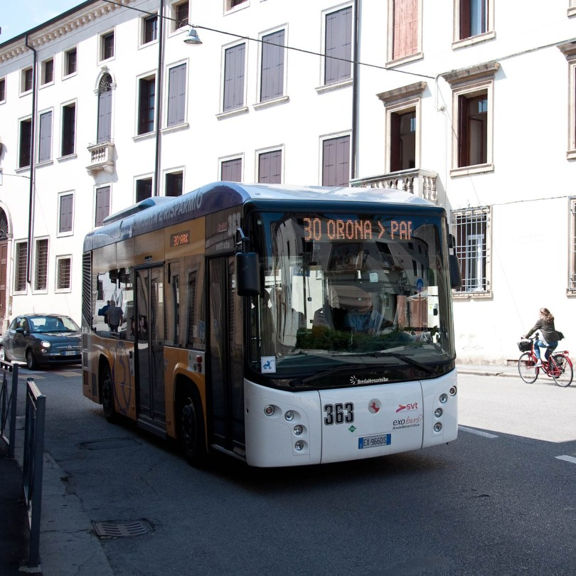 Tiny bus, Vicenza, Italy - www.rossiwrites.com