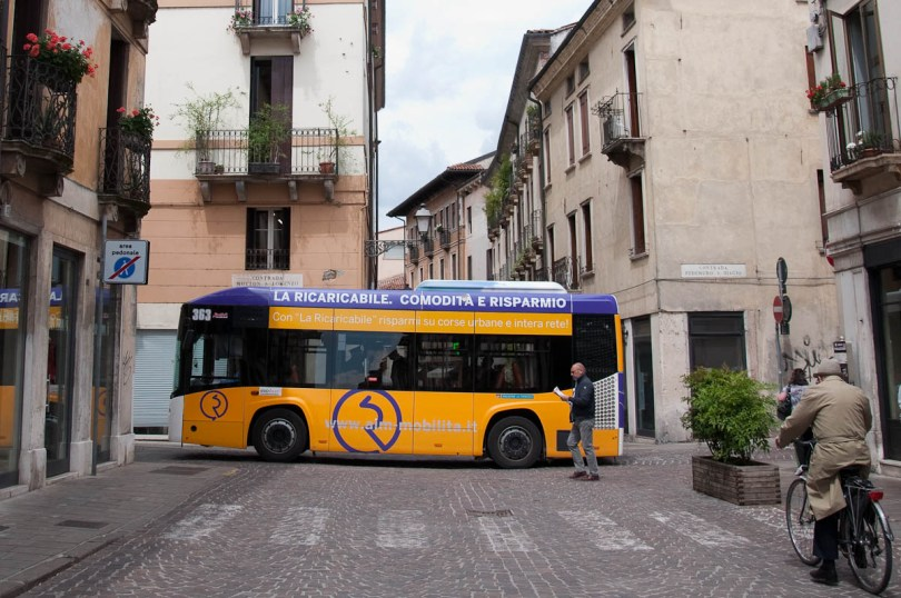 Tiny bus, Vicenza, Veneto, Italy - www.rossiwrites.com