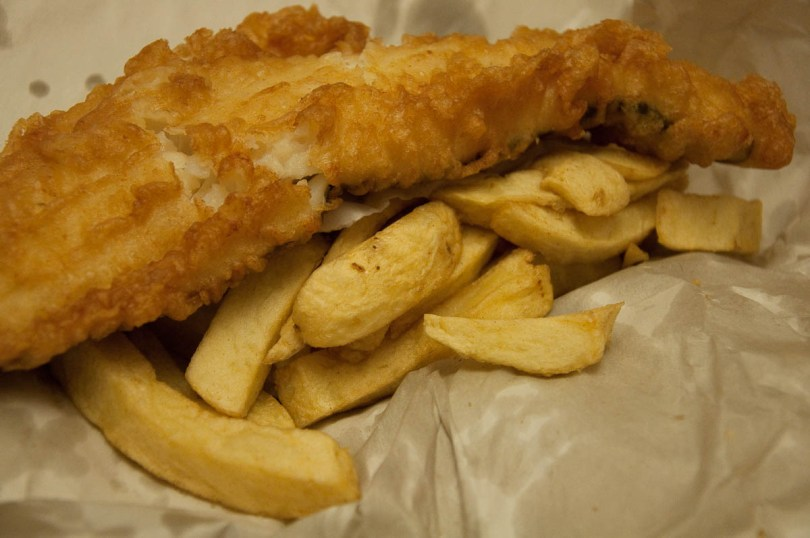 Fish and chips, The Master Fryer Fish and Chips Shop, St. Albans, England - www.rossiwrites.com