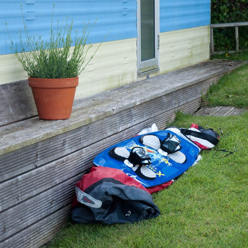 Surfer's gear at Castlehaven Caravan Park, Isle of Wight, UK - www.rossiwrites.com