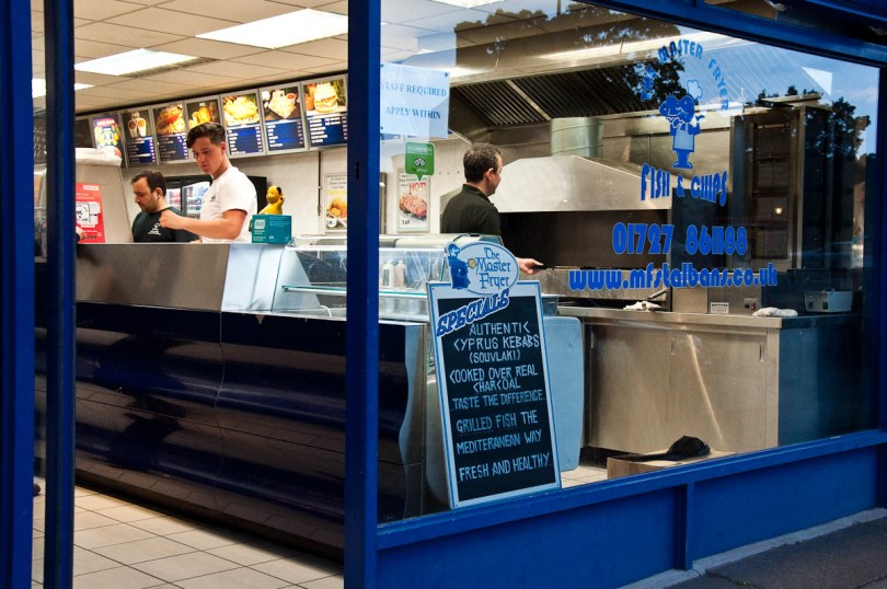 The Master Fryer Fish and Chips Shop, St. Albans, England - www.rossiwrites.com