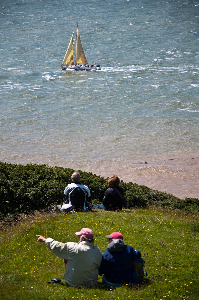 Watching the boats go by, Round the island race 2016, Isle of Wight, UK - www.rossiwrites.com