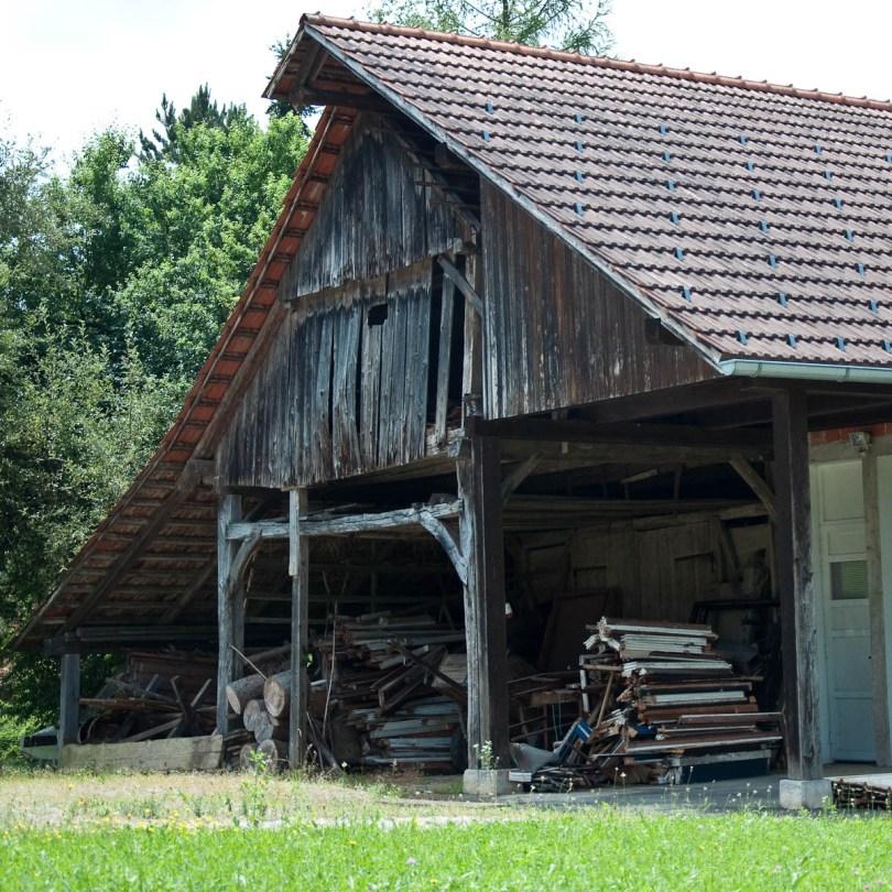 Kozolec - Traditional wooden hayrack barn, Bela Krajina, Slovenia - www.rossiwrites.com