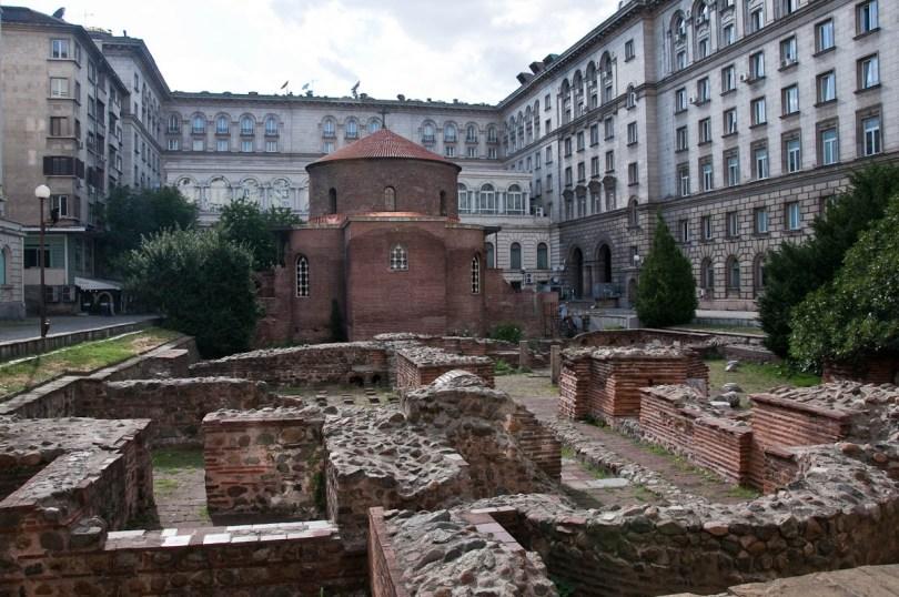 St. George's Church with Roman ruins, Sofia, Bulgaria - www.rossiwrites.com
