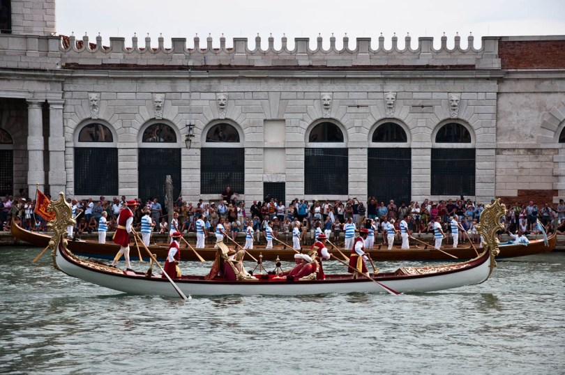 A sumptuous gondola and one very long boat, Historical Regatta, Venice, Italy - www.rossiwrites.com