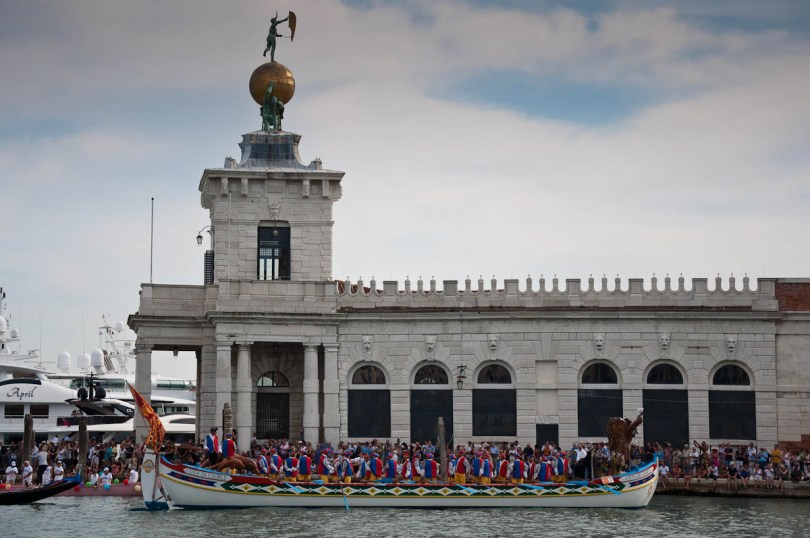 Citta di Caorle's boat, Historical Regatta, Venice, Italy - www.rossiwrites.com