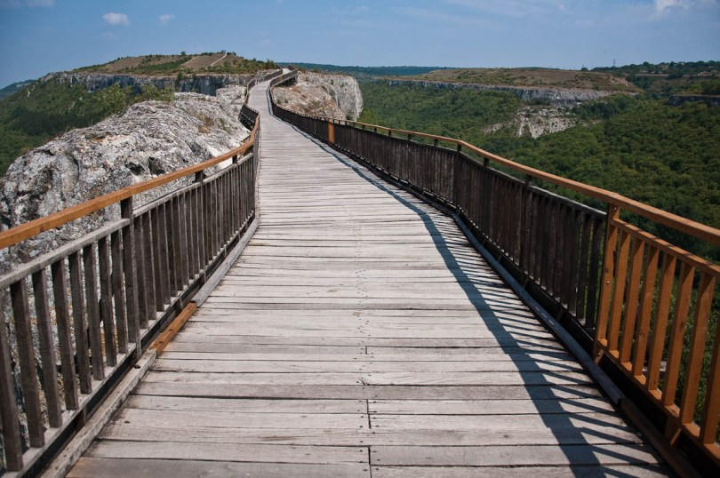 The wooden bridge, Ovech Fortress, Provadia, Bulgaria - www.rossiwrites.com