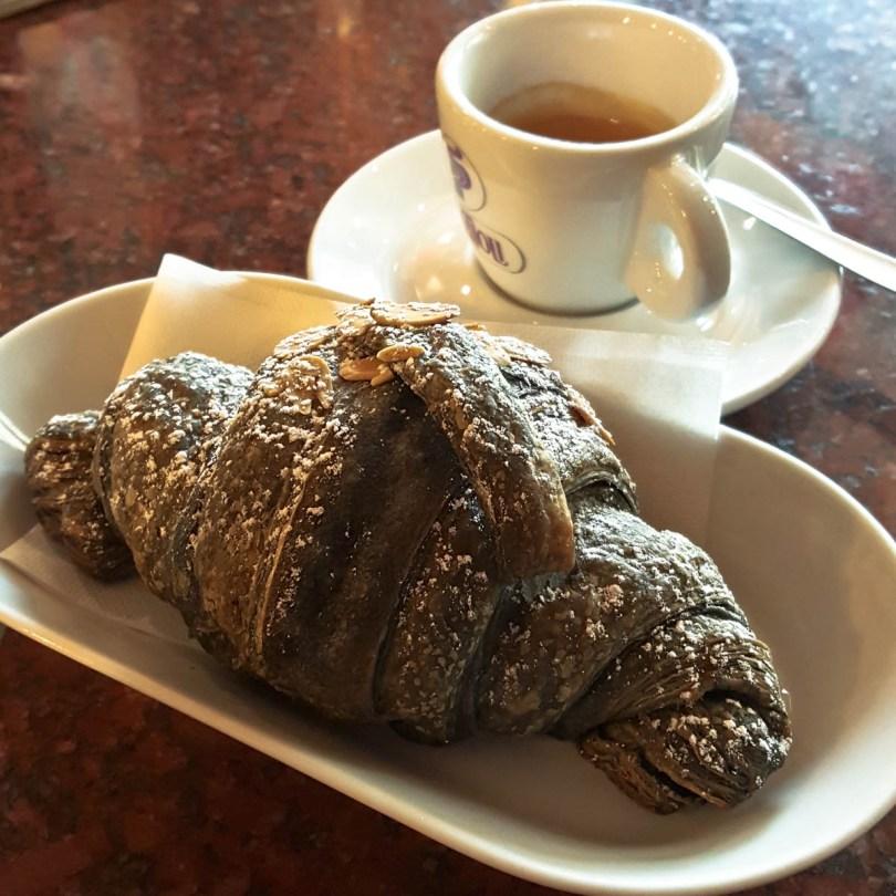 A coal brioche with espresso - Vicenza, Italy - www.rossiwrites.com