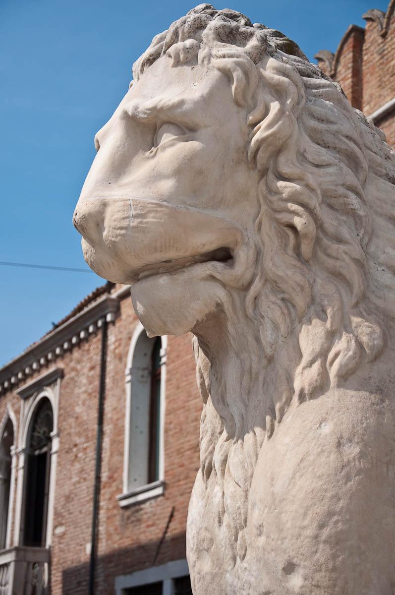 A lion, Arsenale's Porta Magna - Venice, Italy - www.rossiwrites.com