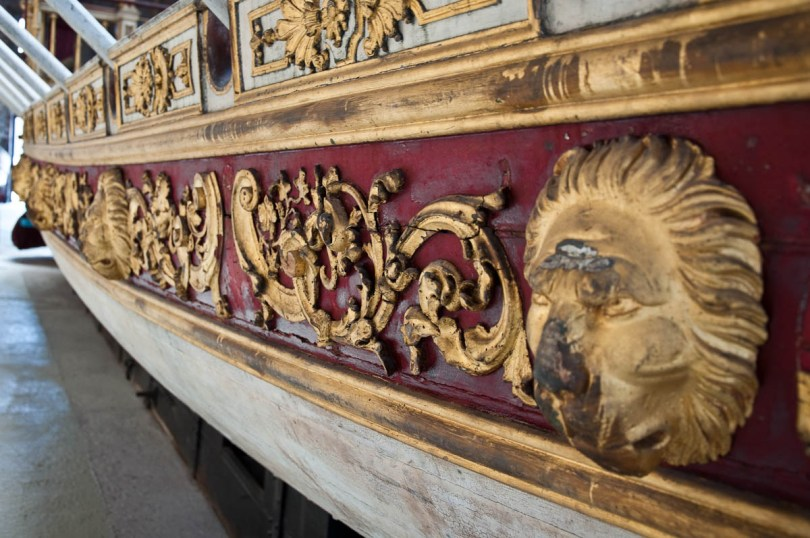 Decorations, Royal Barge - Naval History Museum, Venice, Italy - www.rossiwrites.com