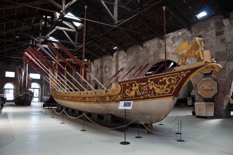 The Royal Barge - Naval History Museum, Venice, Italy - www.rossiwrites.com