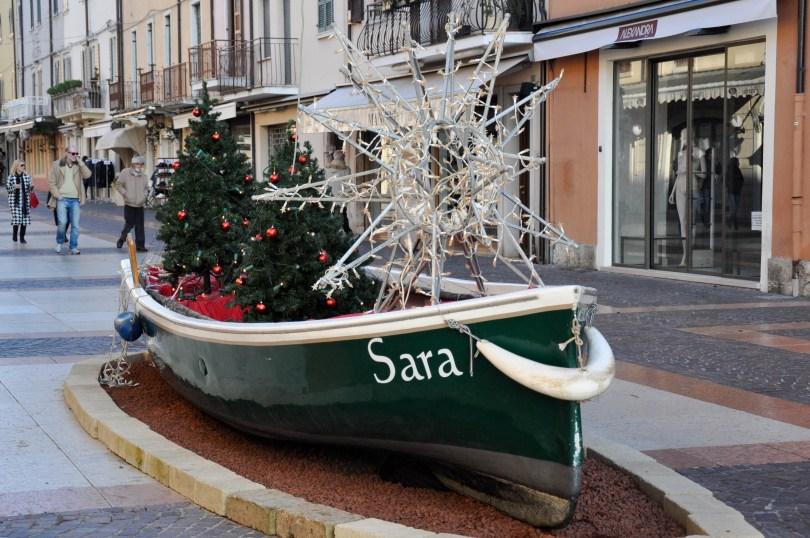 Christmas boat, Bardolino, Lake Garda, Italy - rossiwrites.com