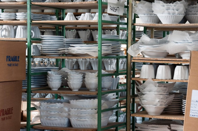Plates and bowls ready for packing and shipping - Nove, Italy - www.rossiwrites.com