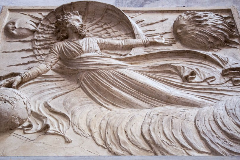 A bas-relief inside the Tempio Canoviano or the Temple of Canova - Possagno, Treviso, Veneto, Italy - www.rossiwrites.com