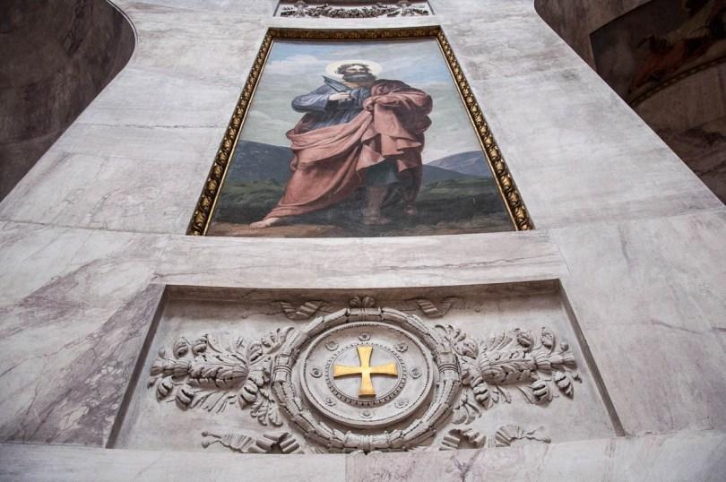 A close-up of a fresco inside the Tempio Canoviano or the Temple of Canova - Possagno, Treviso, Veneto, Italy - www.rossiwrites.com