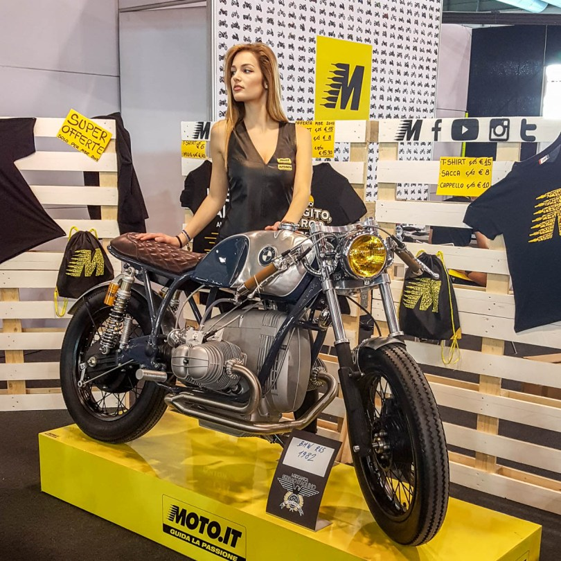 A model with a bike - Verona Motor Bike Expo 2017, Italy - www.rossiwrites.com