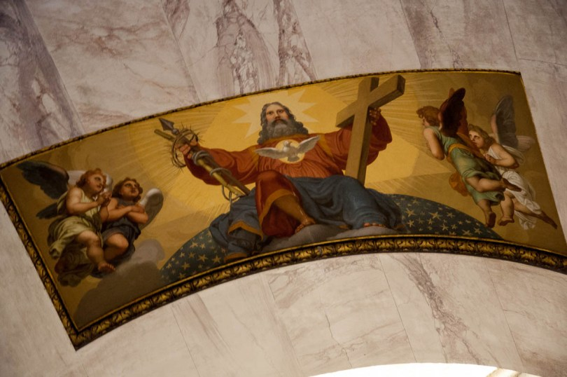 The fresco above the altar inside the Tempio Canoviano or the Temple of Canova - Possagno, Treviso, Veneto, Italy - www.rossiwrites.com