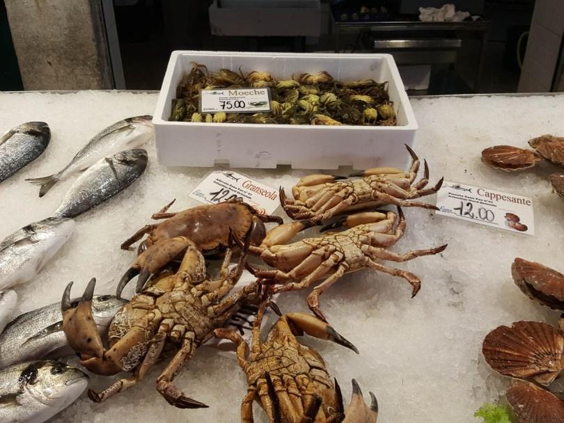 Crabs - Rialto Fish Market, Venice, Italy - www.rossiwrites.com