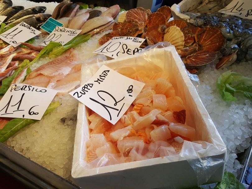 Fish soup mix - Rialto Fish Market, Venice, Italy - www.rossiwrites.com