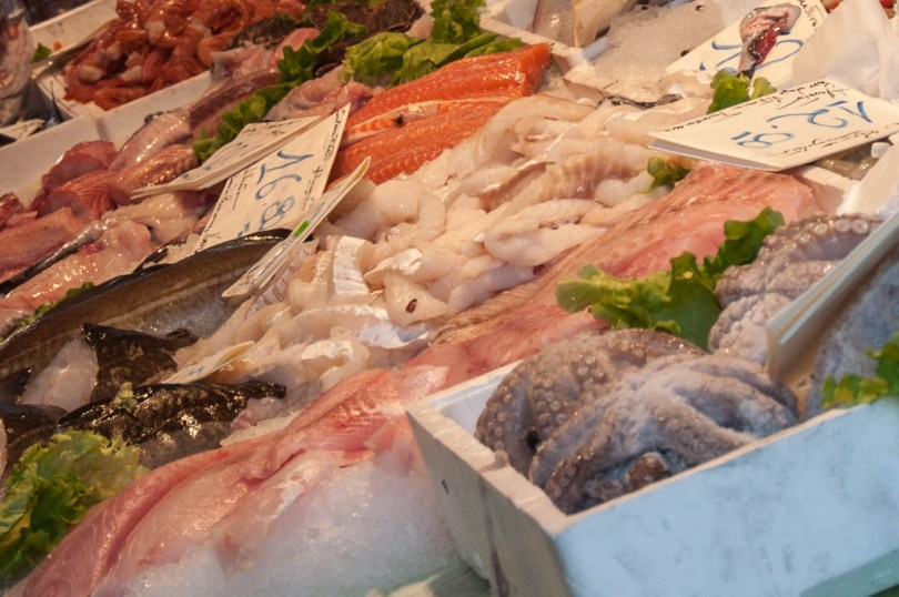 Fresh fish and seafood - Rialto Fish Market, Venice, Italy - rossiwrites.com