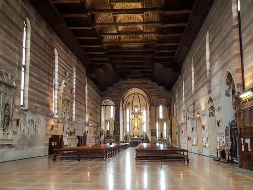 The nave of the Church of the Eremitani - Padua, Italy - www.rossiwrites.com