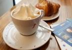 Coffee with whipped cream and brioche - Vicenza, Veneto, Italy - www.rossiwrites.com