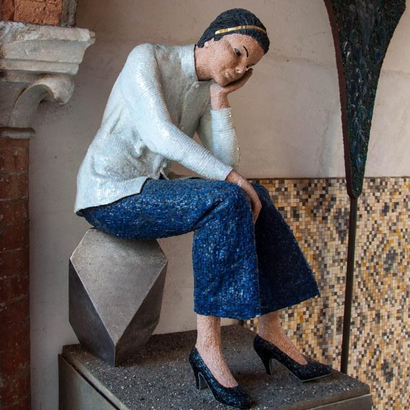 Modern day mosaic figure - Ravenna, Emilia Romagna, Italy - www.rossiwrites.com