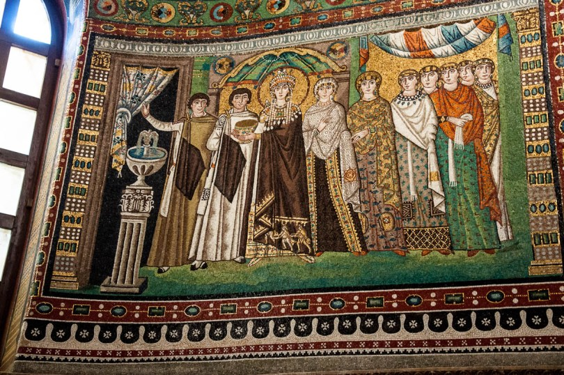 The Theodora panel - Basilica of San Vitale - Ravenna, Emilia Romagna, Italy - www.rossiwrites.com