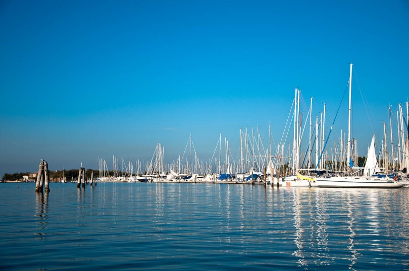 The marina seen from the water - Chioggia, Veneto, Italy - www.rossiwrites.com