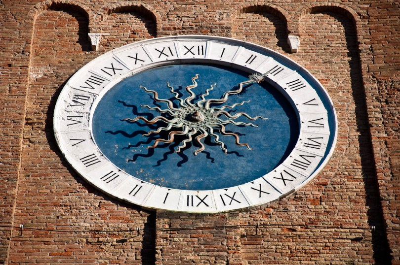 The oldest tower clock in the world, St. Andrew's Church - Chioggia, Veneto, Italy - www.rossiwrites.com