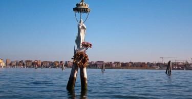 The statue of the Madonna of the Fishermen - Chioggia, Veneto, Italy - www.rossiwrites.com