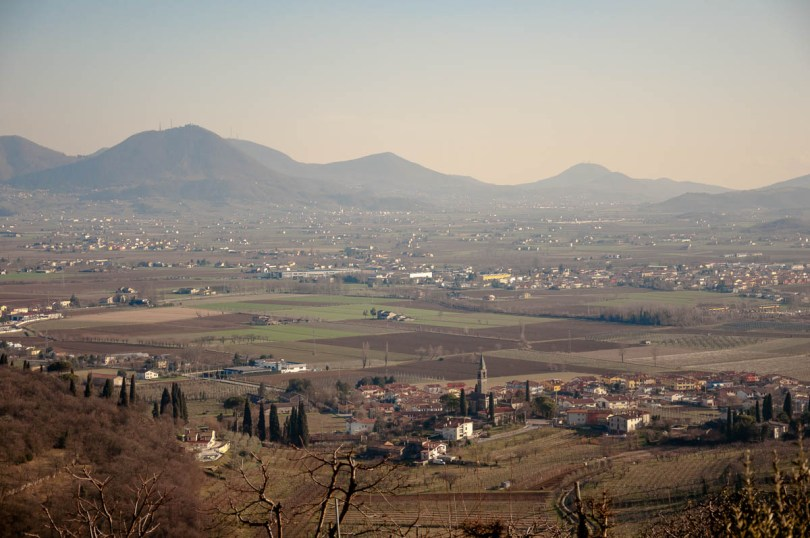The village of Castegnero with the Eauganean Hills - Colli Berici, Vicenza, Italy - www.rossiwrites.com